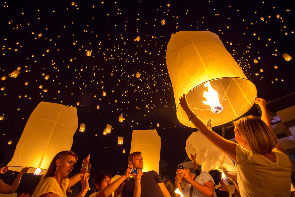 Sky Lanterns Loi Kratong Chiang Mai