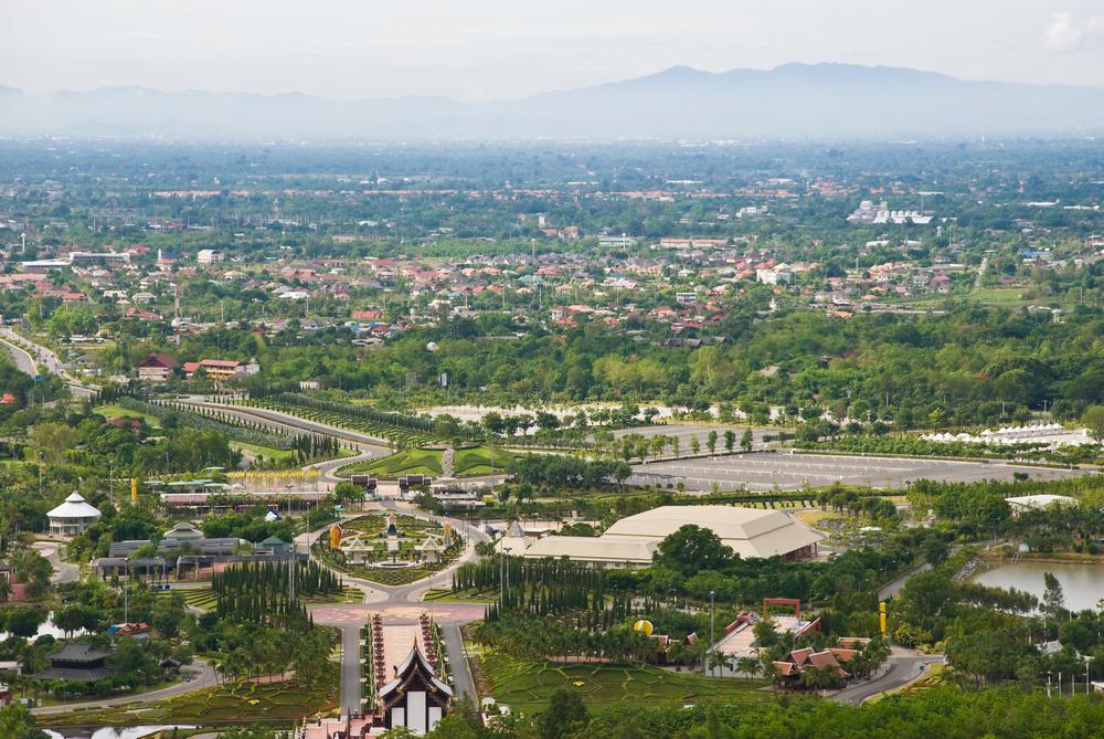 View over Chiang Mai from Wat Doi Kham