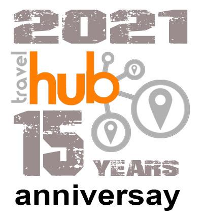 Travel Hub Anniversary logo